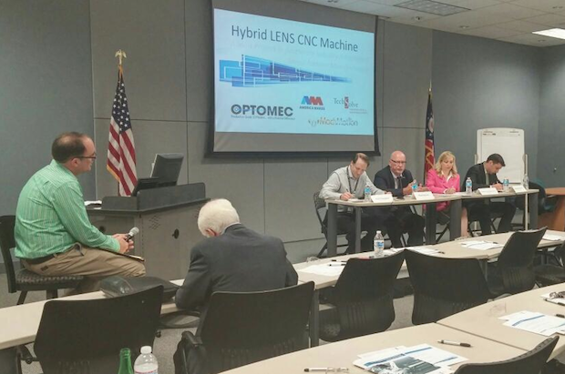 America Makes panel discussion on hybrid Lens CNC machine