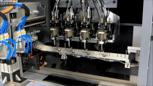 Contract manufacturer LITE-ON Mobile Mechanical Strategic Business Group is using Optomec's Aerosol Jet systems to 3D print millions of antenna patterns and other functional electronics onto injection-molded plastic/metal consumer devices, such as smartphone and tablet components and covers. Shown here, a system with quad Aerosol Jet print engines.  (Source: Optomec)